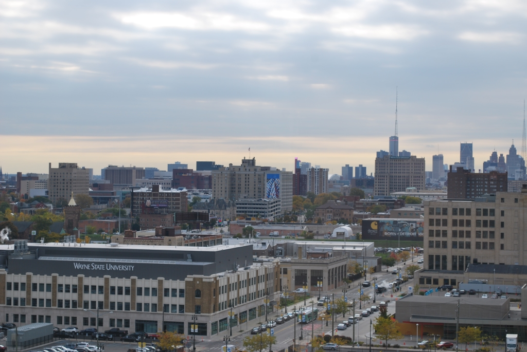 Detroit skyline, DevOps Days Detroit 2019, tech news Detroit